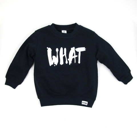 Kinder-Sweatshirt WHAT navy