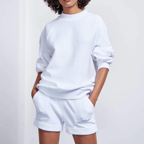 SHORTS RIMINI RIB WHITE von JAN`N JUNE
