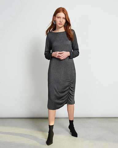 Kleid TRIBECA SILVERY BLACK von JAN `N JUNE