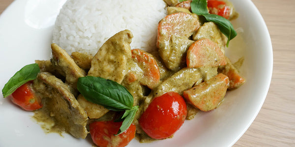 Creamy Thai Basil Garlic Chicken
