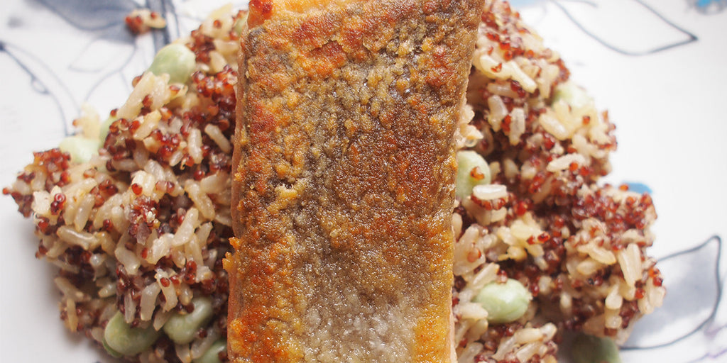Pan-fried Salmon with Asian Citrus Brown Rice & Quinoa