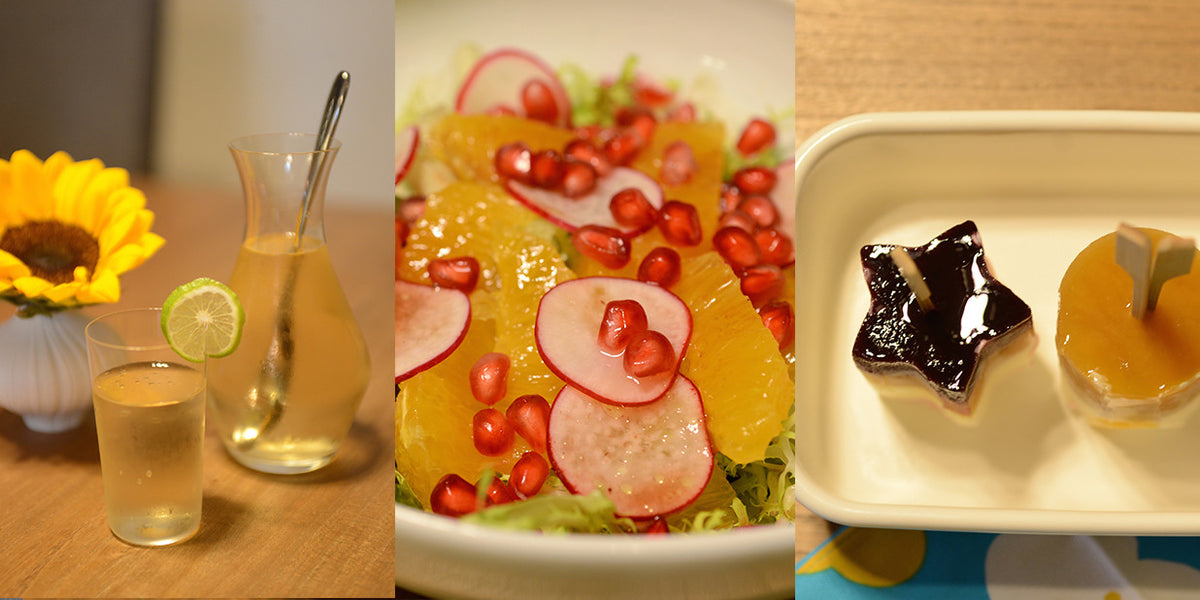 Easy Summer Lunch: Fruit Salad, Cold Brewed Lemongrass Tea & Rainbow Ice Pops