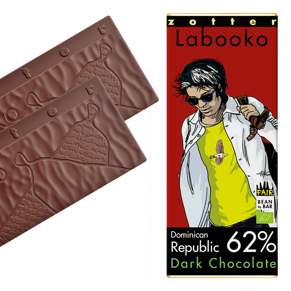 Labooko -  62% Dominican Republic  (2 x 35g) by Zotter
