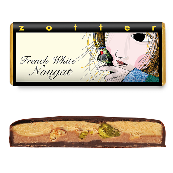 Hand-scooped - French White Nougat 70g by Zotter