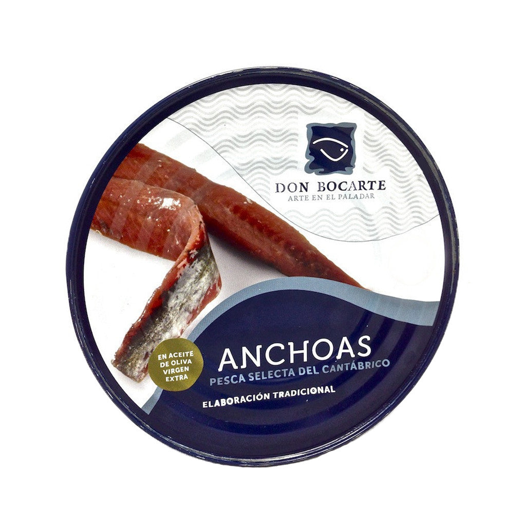 Cantabrian Anchovies in Olive Oil 550g by Don Bocarte