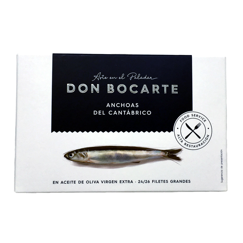 Limited Edition Cantabrian Anchovies in Olive Oil 200g by Don Bocarte