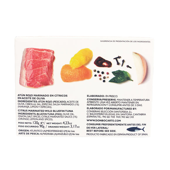 Wild Bluefin Citrus Marinated Tuna 128g