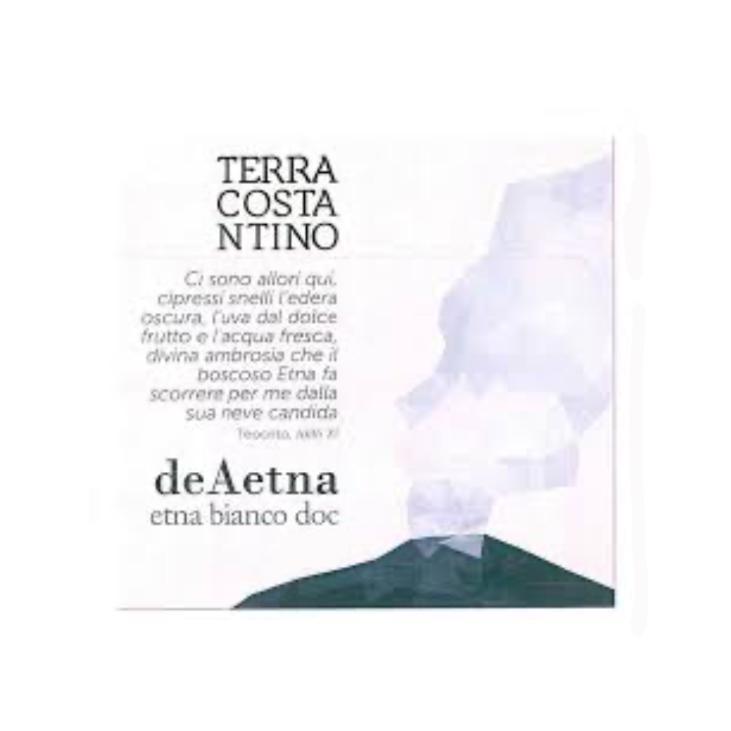 DeAetna Bianco DOC 2016 (Organic) 750ml Label