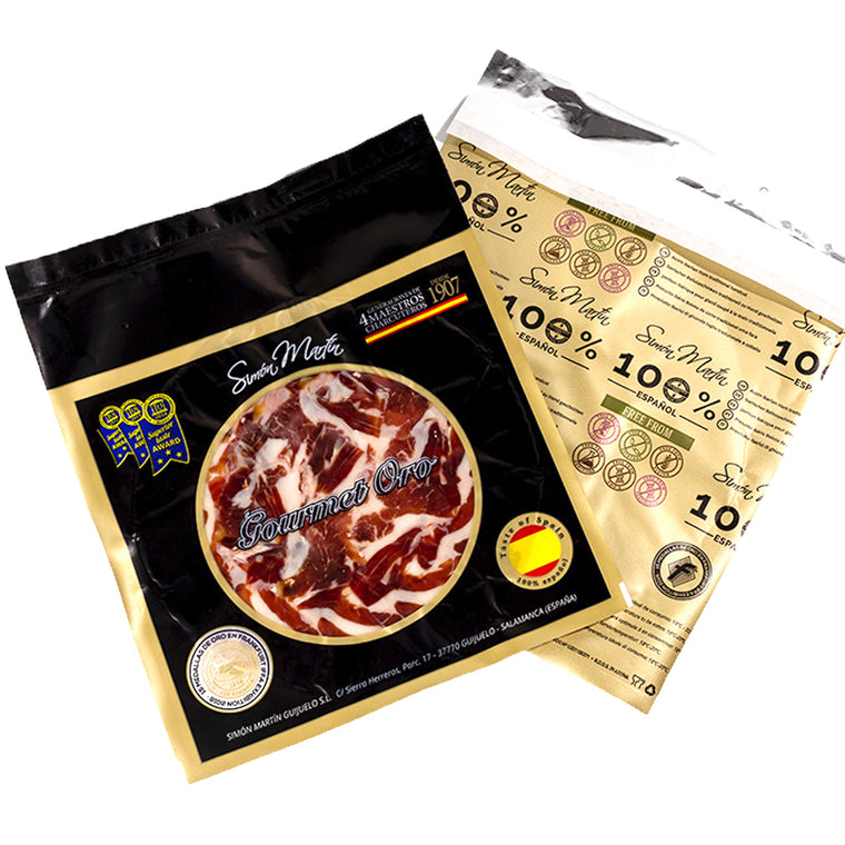 Hand-sliced Jamon 100% Iberico 48/60M 100g by Simon Martin