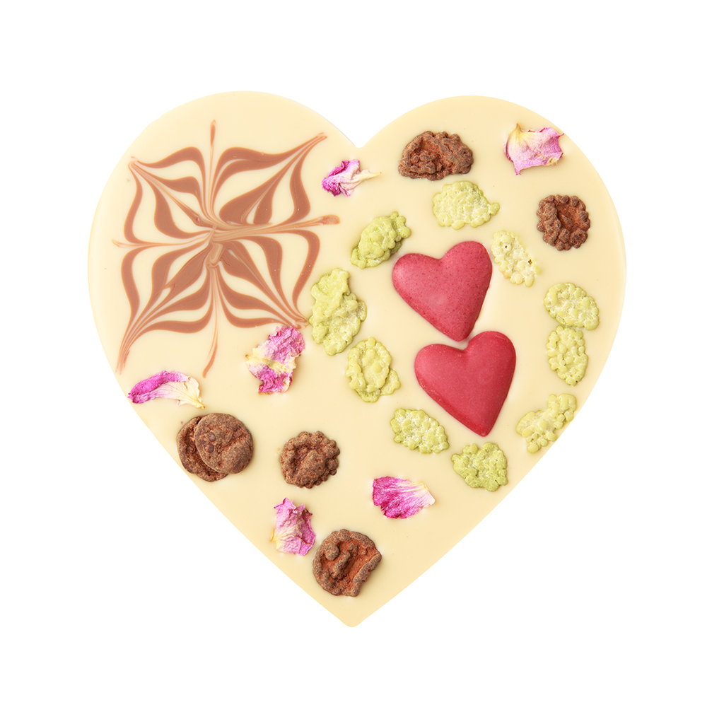 Vegan Heart with Superfood Centre 100g by Zotter