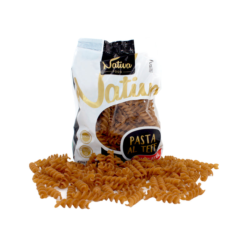 Gluten-Free Teff Fusilli 400g by Nativa Food