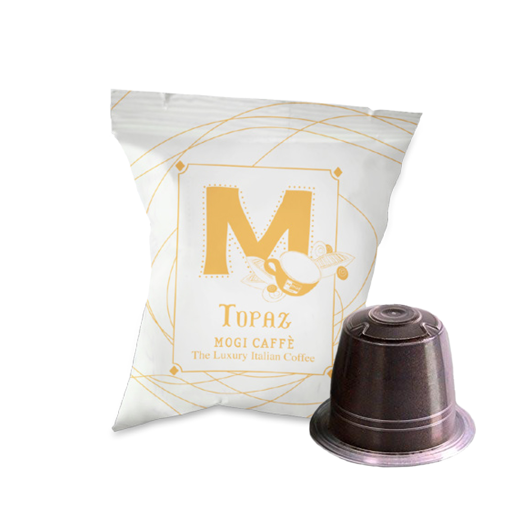 Topaz Coffee Capsules (Nespresso Compatible) 100pcs by Mogi Caffe