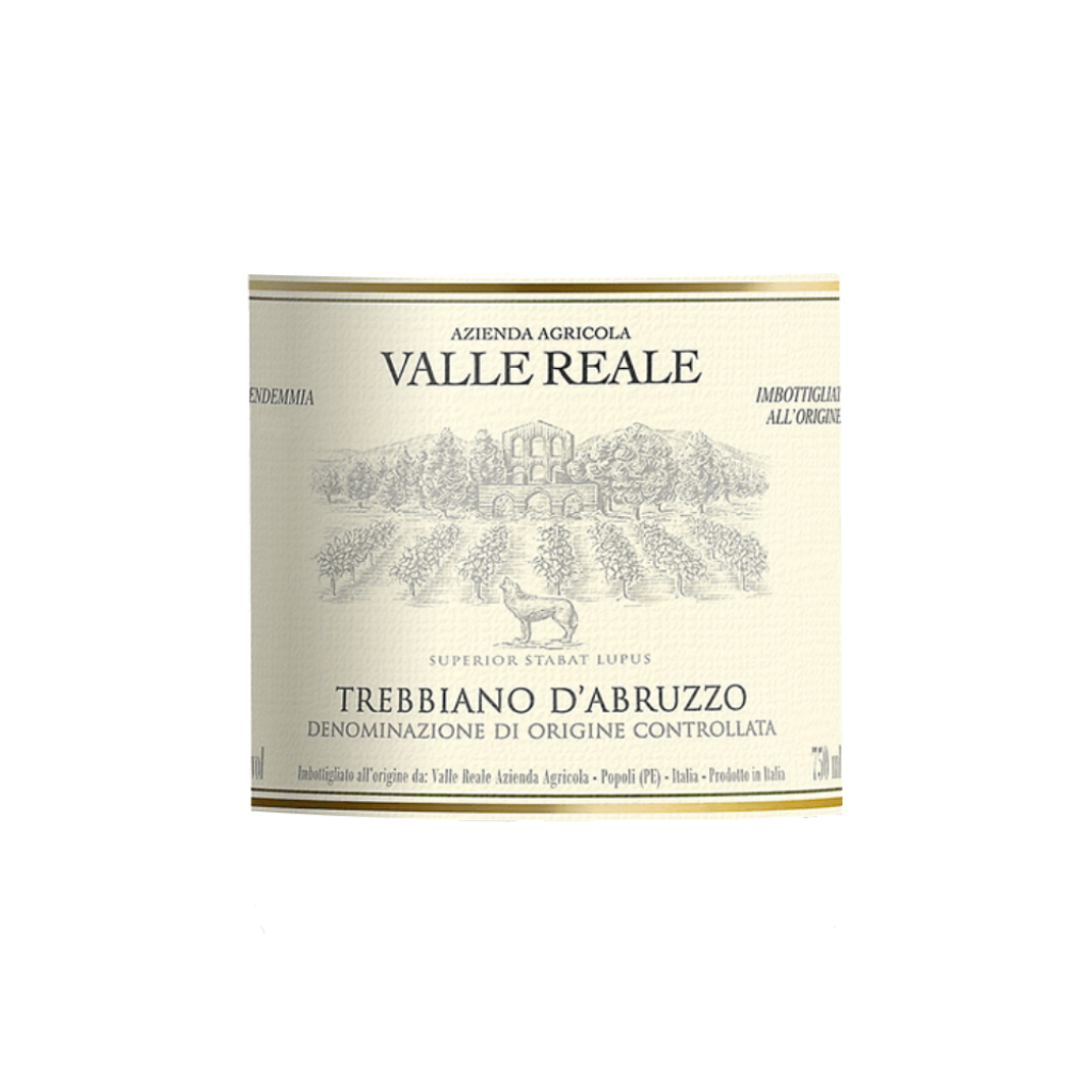 Trebbiano d'Abruzzo DOC 2018 750ml by Valle Reale Label