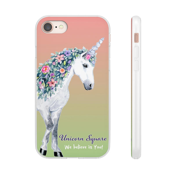 Unicorn Square Cell Phone Flexi Cases