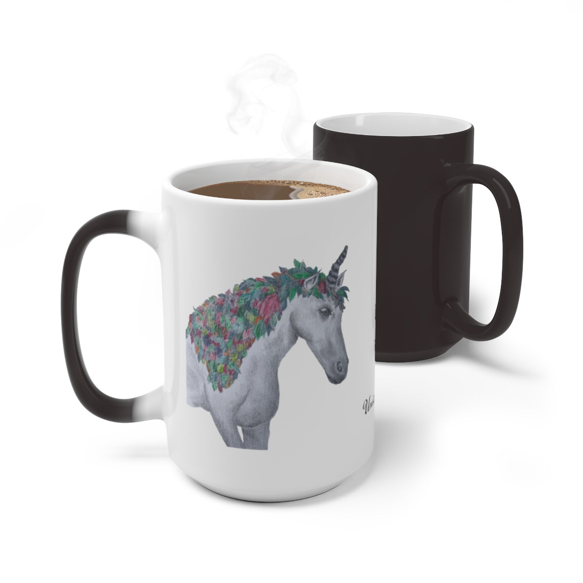 Color Changing Mug featuring the Fall Unicorn at Moose Pond - Unicorn Square