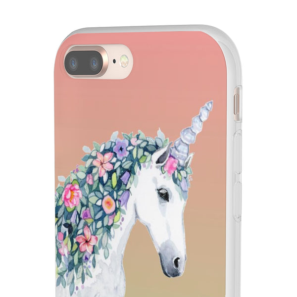 Unicorn Square Cell Phone Flexi Cases - Unicorn Square