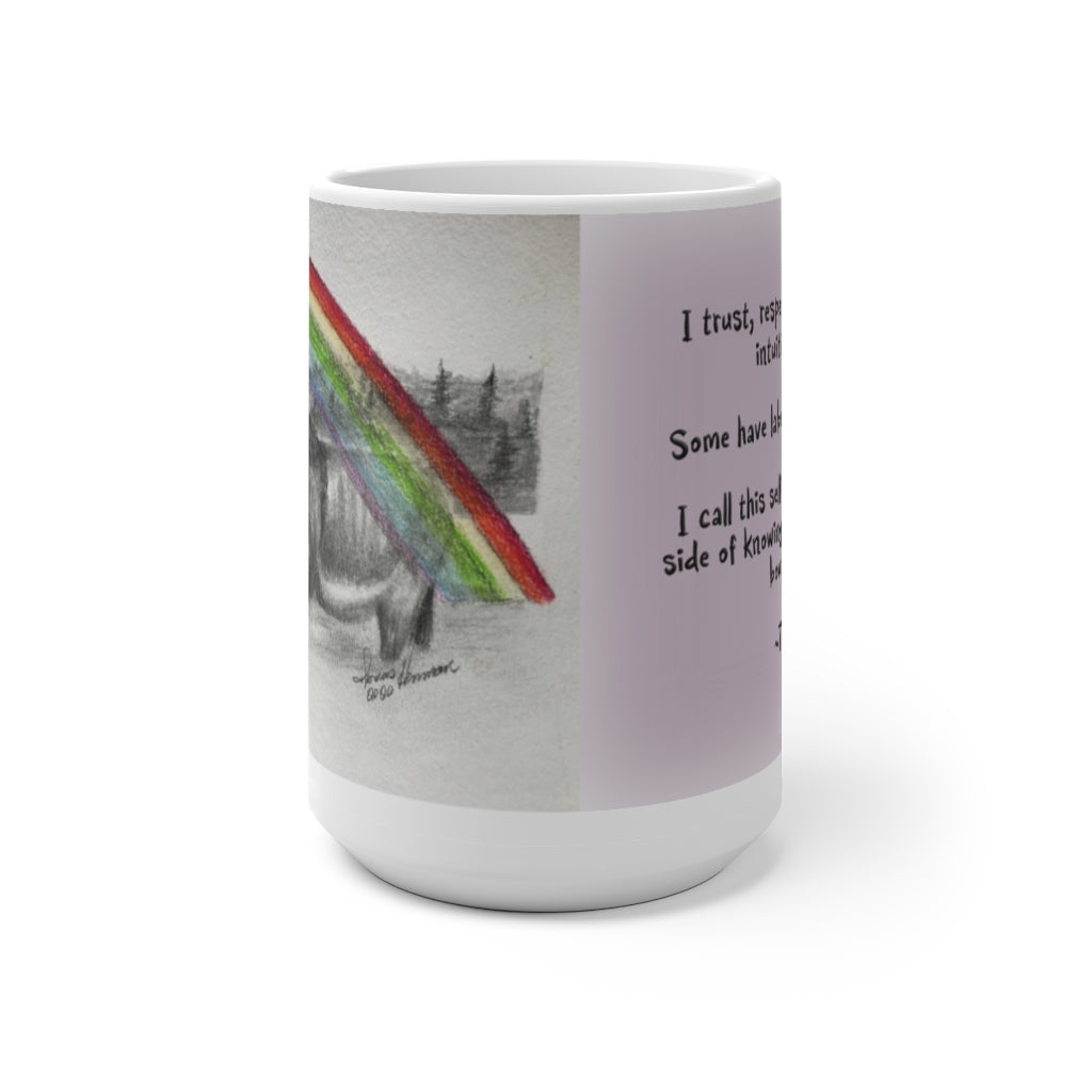 The Rainbow Donkey ~Color Changing Mug - Unicorn Square