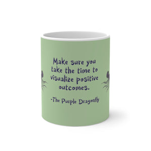 The Purple Dragonfly ~ Color Changing Mug