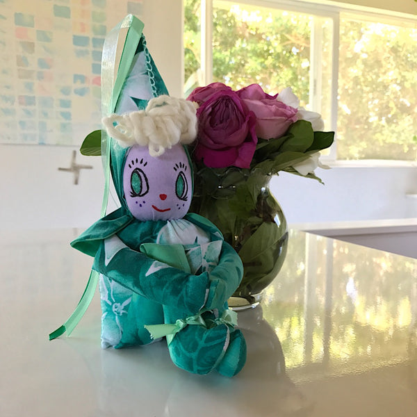 Aqua Plumeria Rainbow Fairy - Unicorn Square