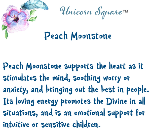 unicornsquare - Peach Moonstone Tumbled Crystal - Crystal