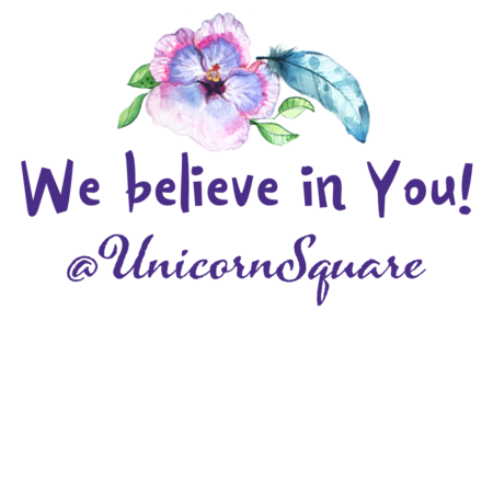 "Girl's T-Shirt ~ ""We Believe in You!"" Unicorn - Unicorn Square"