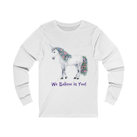 Unisex Jersey Long Sleeve Tee ~Unicorn ~ EU