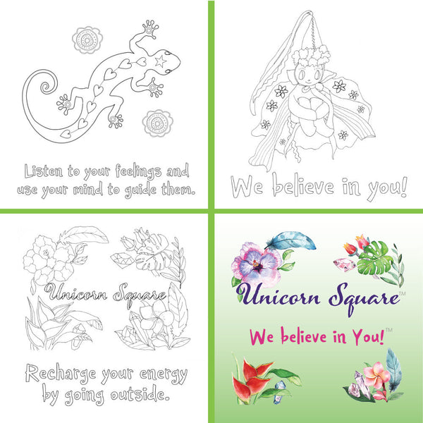 Every Day is a Celebration!!! Fairy Party Kits - Unicorn Square