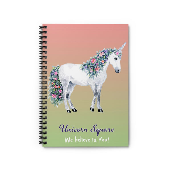 Spiral Notebook - Ruled Line - Unicorn Square