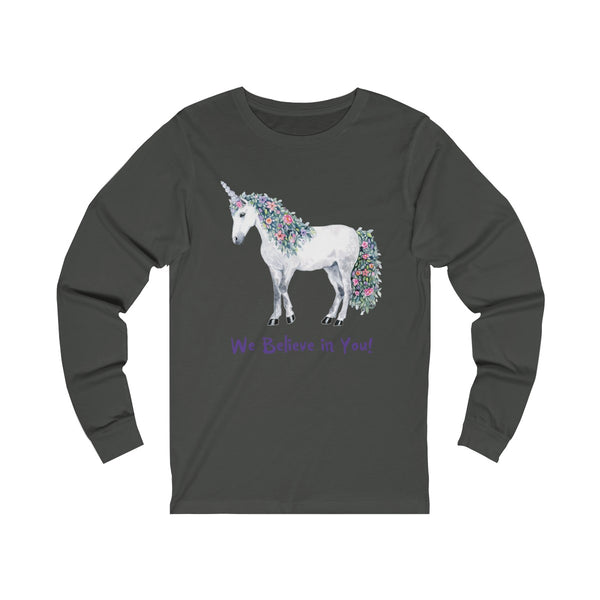 Unisex Jersey Long Sleeve Tee Unicorn - Unicorn Square