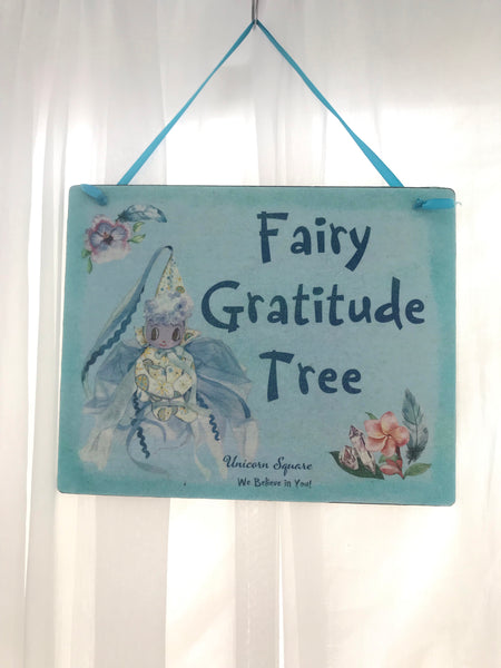 Fairy Gratitude Tree Sign - Unicorn Square