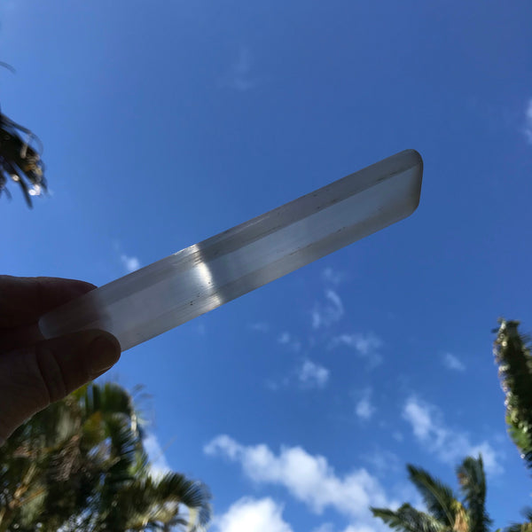 Selenite Wand & Four Tumbled Crystals - Unicorn Square