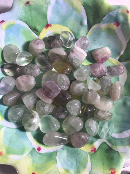 Fluorite Tumbled Crystal - Unicorn Square