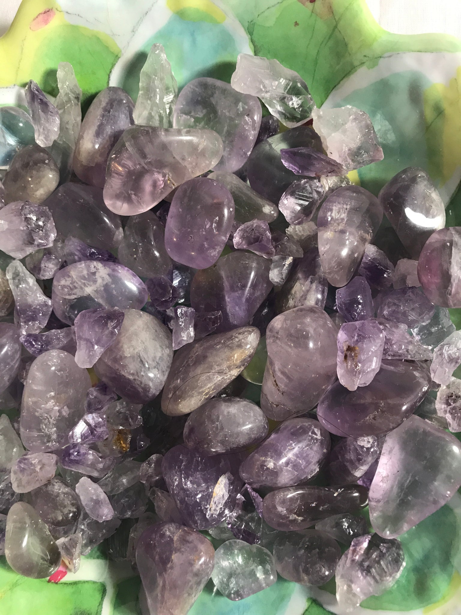 Amethyst Tumbled Crystal - Unicorn Square