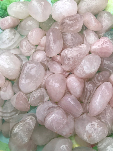 Rose Quartz Crystal - Unicorn Square