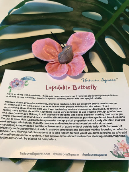 Lepidolite Butterfly - Unicorn Square