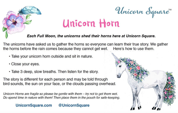 unicornsquare - Unicorn Horn ~ Plaid Pink Flannel Flower filled with Dried Balsam - unicorn horn