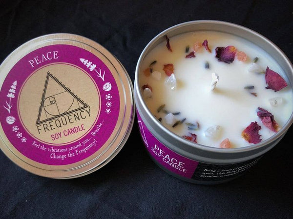 Peace Crystal Soy Candle by Frequency