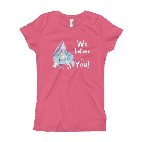"unicornsquare - Girl's T-Shirt ~  ""We Believe in You!"" Fairy - Clothing"