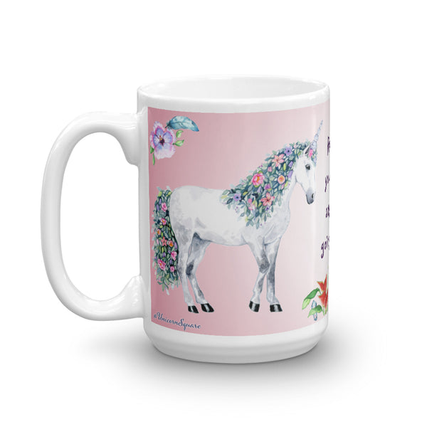 Recharge your Energy anytime by going Outside! Unicorn Mug - Unicorn Square