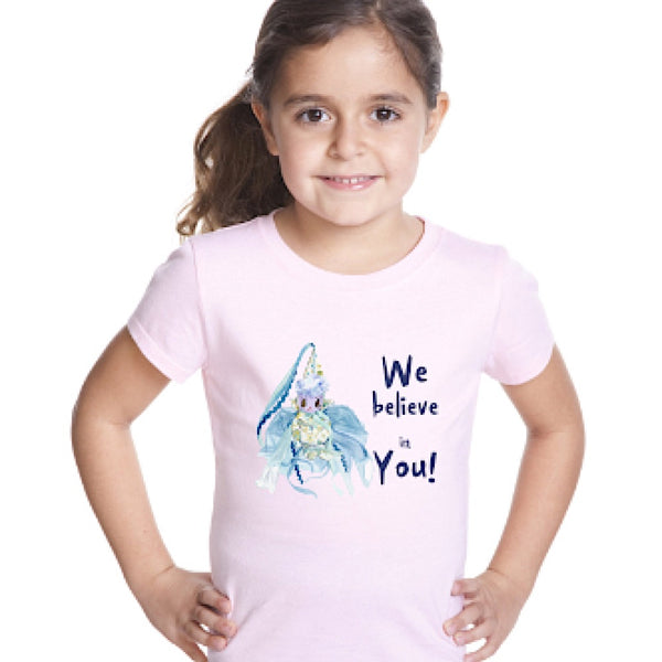 "Fairy ""We Believe in You!"" Girl's T-Shirt - Unicorn Square"