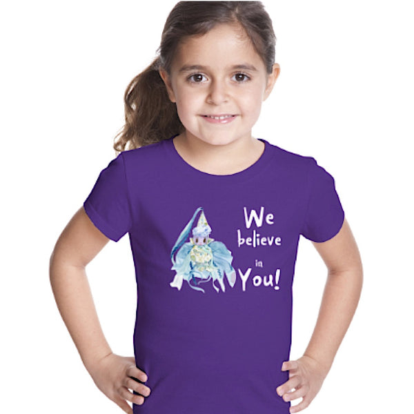 "Girl's T-Shirt ~  ""We Believe in You!"" Fairy - Unicorn Square"