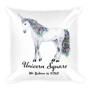 Unicorn Square Pillow - Unicorn Square