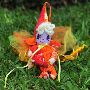 Orange Plumeria Rainbow Fairy - Unicorn Square