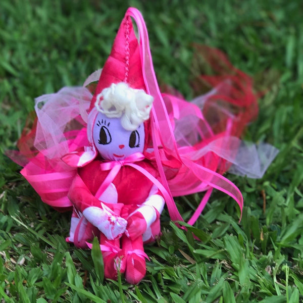 The Kindness Fairy ~ Emotional Support Fairy with Rose Quartz & Unakite Crystal Hearts - Unicorn Square