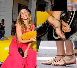 Gisele Bundchen spotted still wearing her Niluh Djelantik Shoes after 11 years