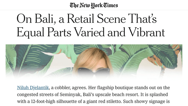 Niluh Djelantik in the New York Times