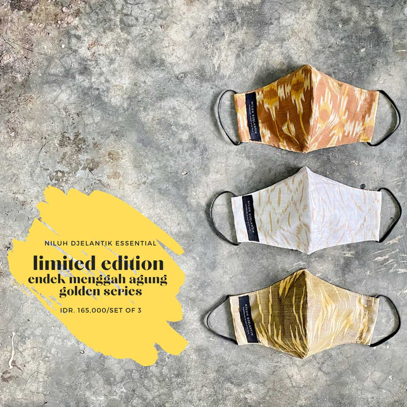 Leather-shoes-Endek 3 PLY COTTON MASK SET SUNNY & LIME SERIES-Accessories-NILUH DJELANTIK-NILUH DJELANTIK