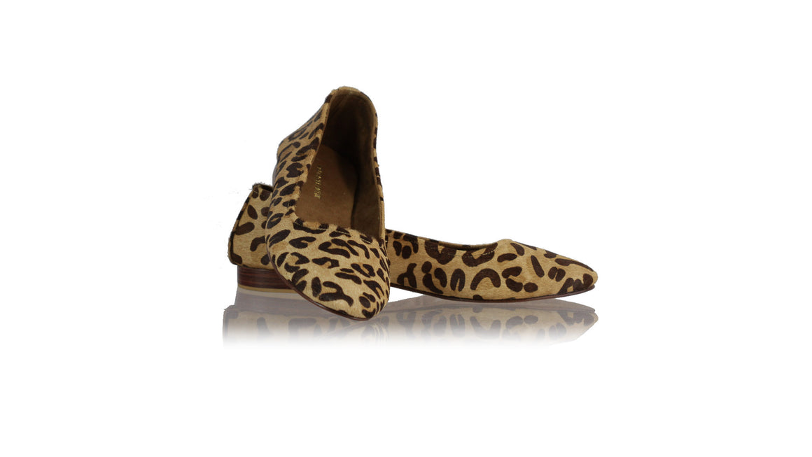 leather shoes Charlie Ballet 20mm - Brown Pony Leopard, flats ballet , NILUH DJELANTIK - 1