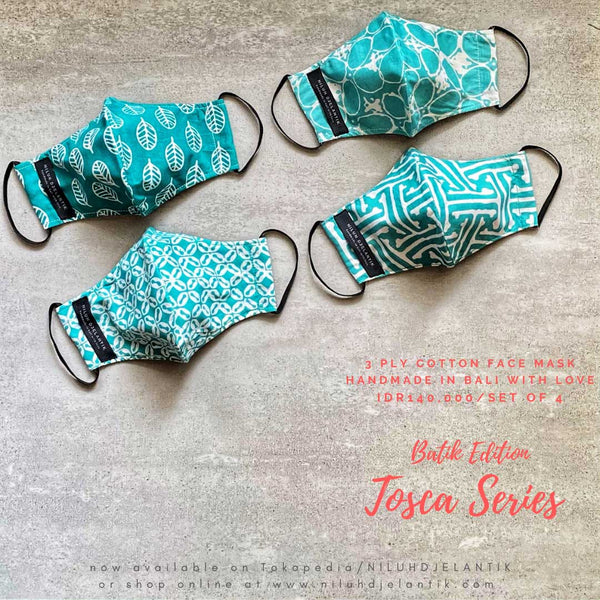 Leather-shoes-Batik 3 PLY cotton mask Set TOSCA SERIES-Accessories-NILUH DJELANTIK-NILUH DJELANTIK