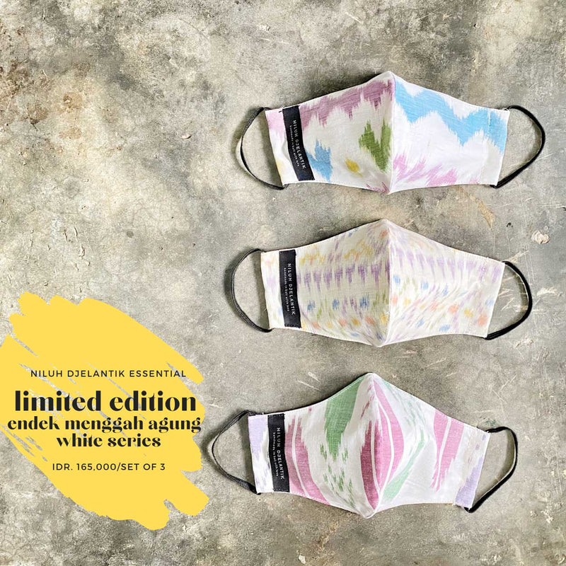 Leather-shoes-Endek 3 PLY COTTON MASK SET LIGHT PASTEL SERIES-Accessories-NILUH DJELANTIK-NILUH DJELANTIK